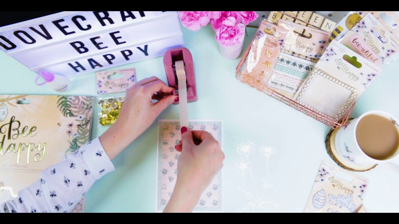 Superb Card Making Ideas Youtube Part - 10: Dovecraft Bee Happy Card Making Tutorial - YouTube