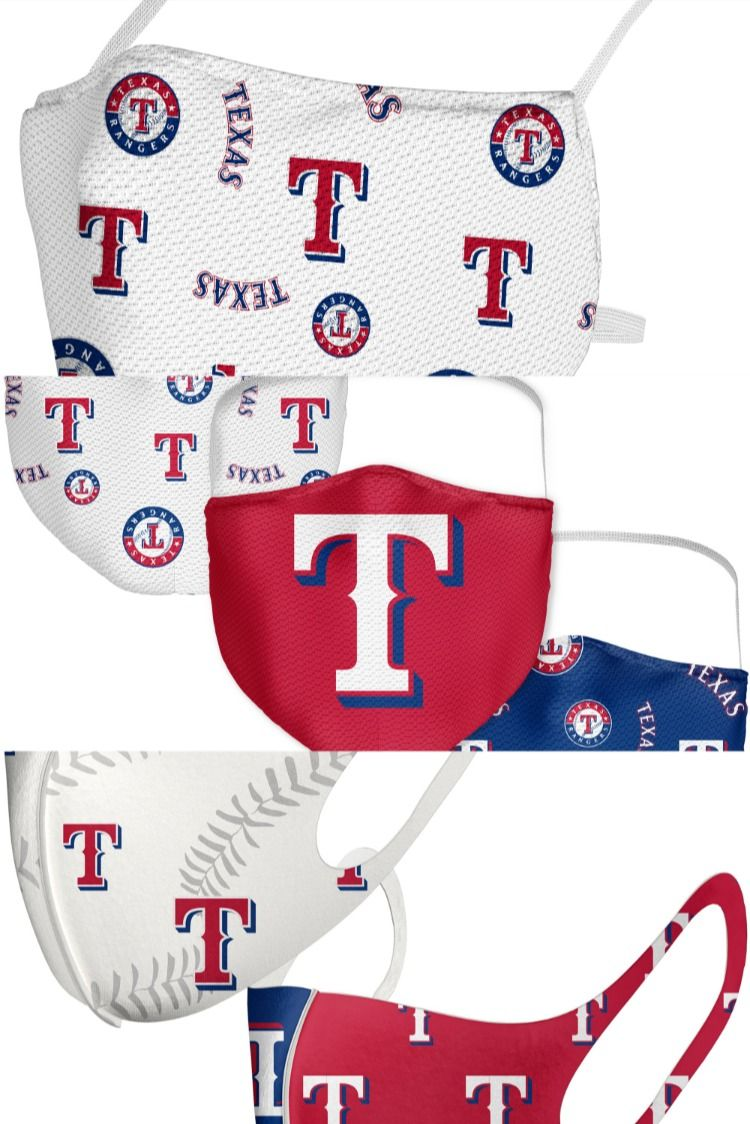 Official Texas Rangers Face Masks Texas Rangers Baseball Accessories Baseball Women