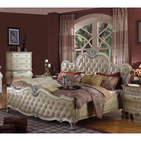Best Mcferran B8301 Antique White Bonded Leather California 400 x 300