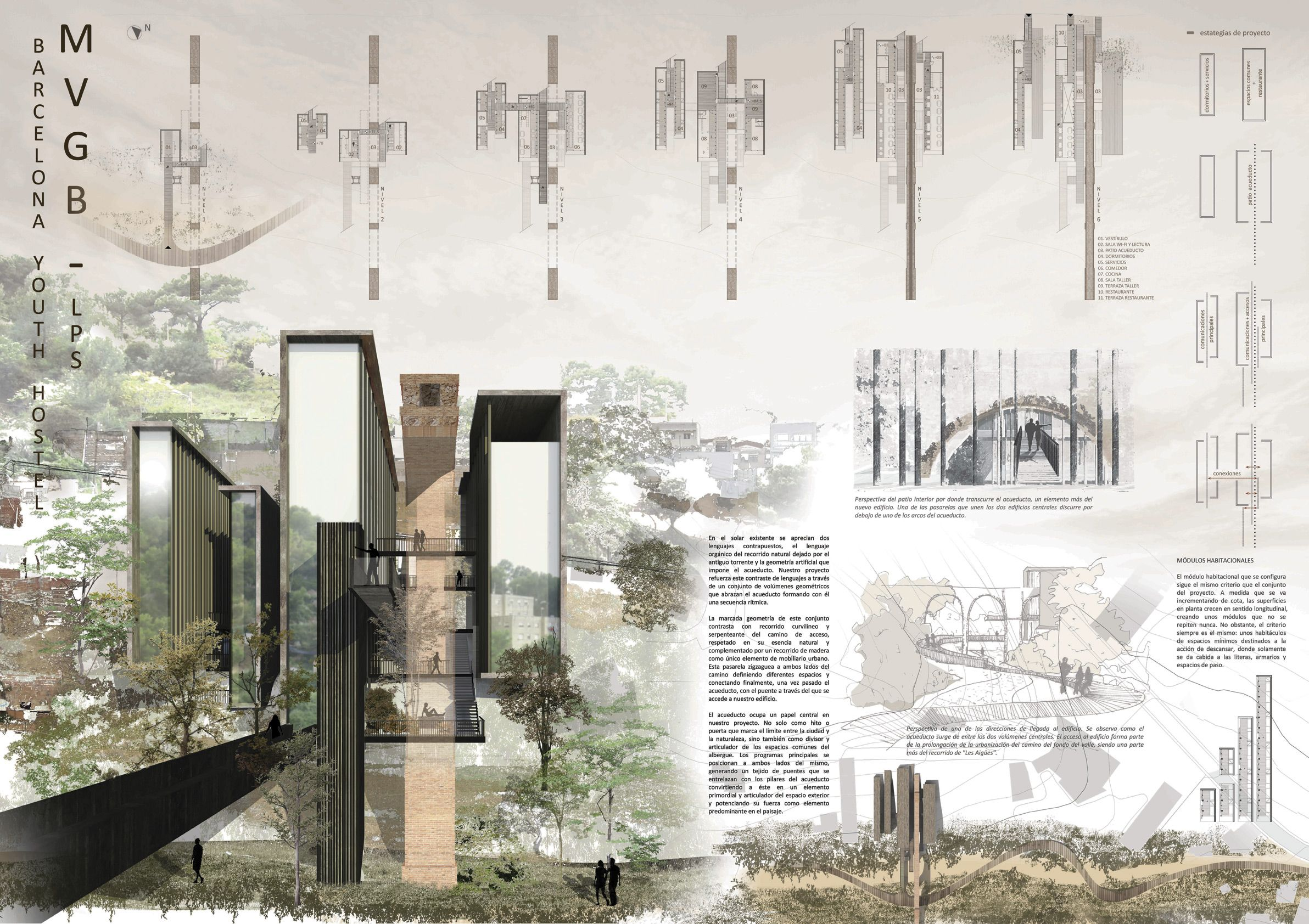 Results Of The Competition Barcelona Youth Hostel Layo U T Pinterest Architecture