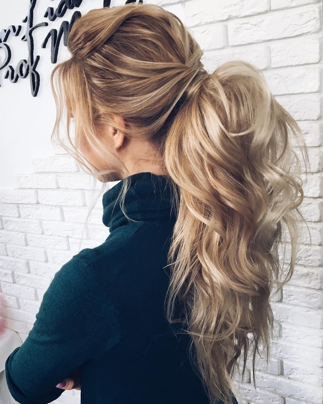 27 Gorgeous Wedding Hairstyles For Long Hair In 2019: Gorgeous Ponytail Hairstyle Ideas That Will Leave You In