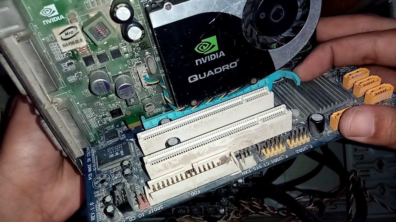طريقة تركيب كارت شاشة خارجي للكمبيوتر Nvidia Electronic Components Electronic Products