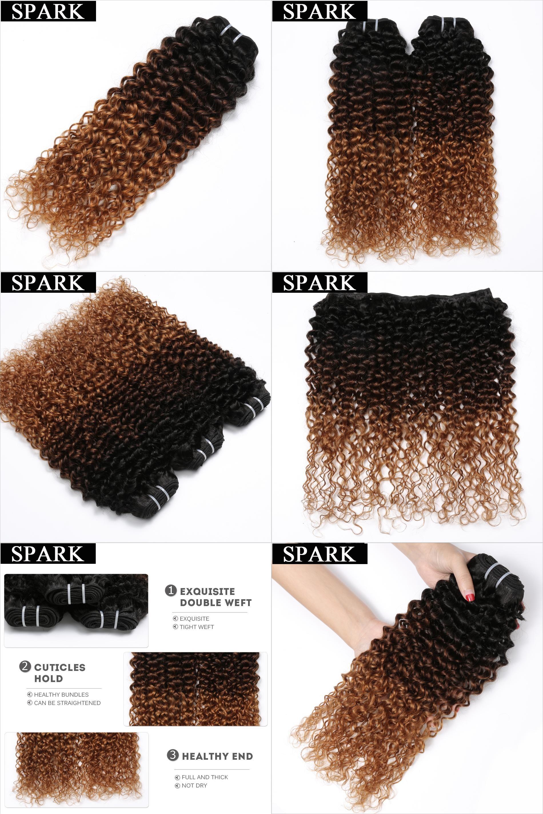 Visit To Buy Spark Remy Hair 3 Tone Ombre Brazilian Hair Bundles