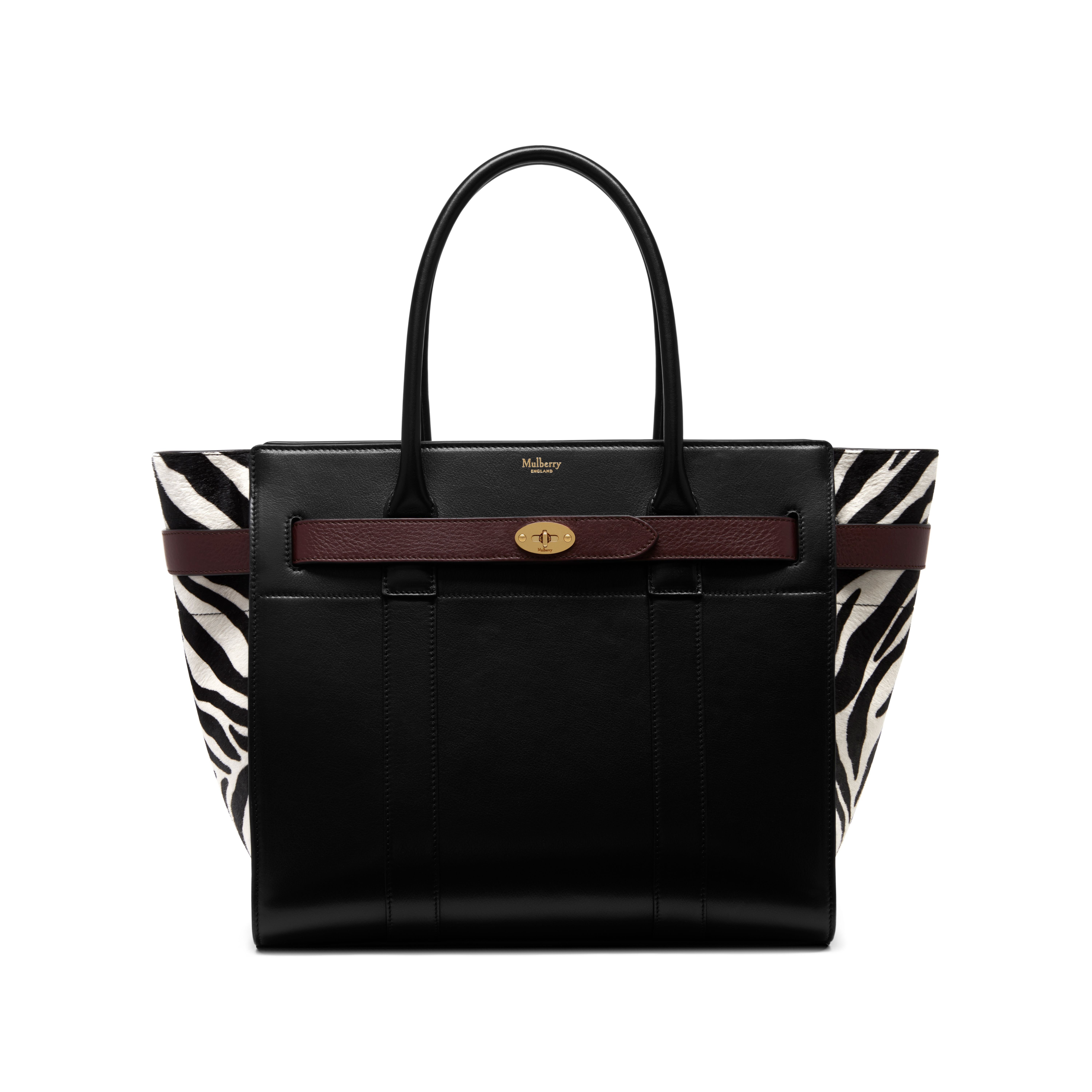cea8310032 Mulberry - Zipped Bayswater in Black