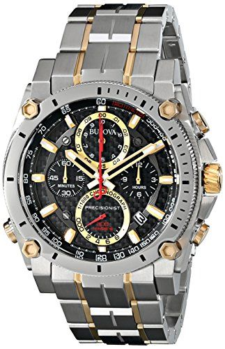 c23afd501 Bulova Men's 98B228 Precisionist Analog Display Japanese Quartz Two Tone  Watch -- Read more reviews of the product by visiting the link on the image.