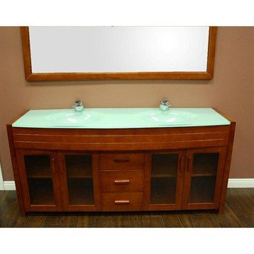 Design Element Waterfall 72 Double Sink Vanity Set Honey Oak Double Sink Bathroom Vanity Bathroom Sink Vanity Double Sink Vanity