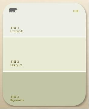 Green Paint Samples Boys Room Stairwell