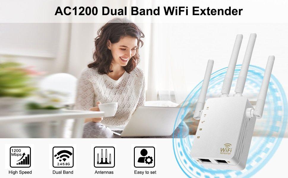 Router Repetidor Wifi Inalambrico 1200mbps Doble Banda 2 4 5g 4