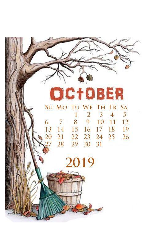 October 2019 iPhone Calendar Wallpaper #octoberwallpaperiphone