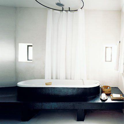 Salle de bain zen à l\u0027ancienne