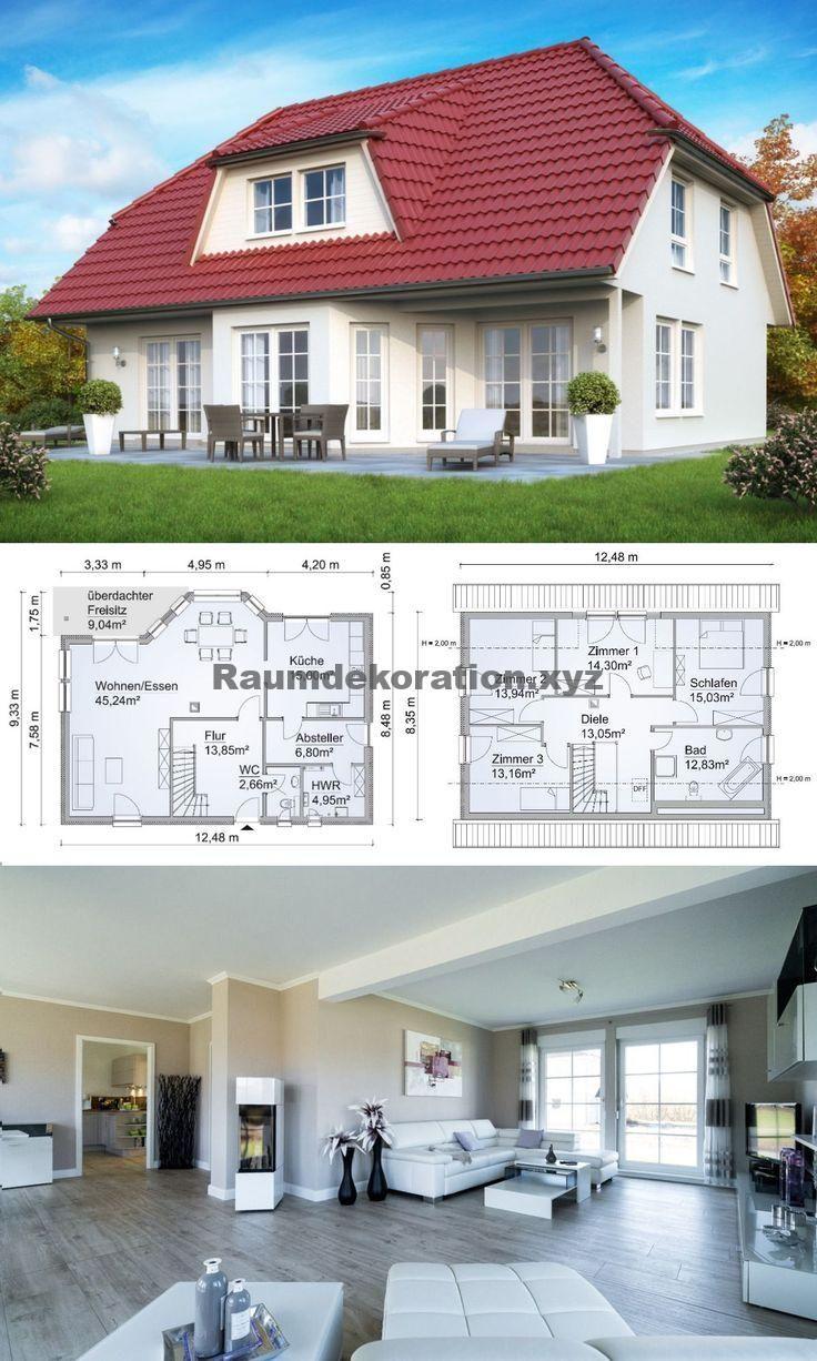 Baustil Ideen Modernes Landhaus mit Walmdach Baustil