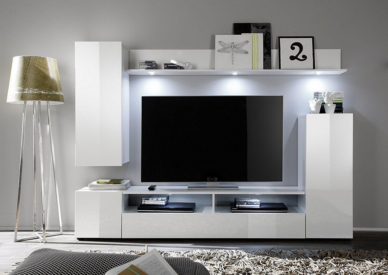 Mobile Tv Moderno Led : Soggiorno moderno teseo composizione mobile porta tv con led