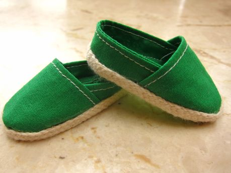 18/'/' Doll Flat Sneakers Shoes for AG American Doll  Clothes Green