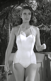 13c2a2ffe154 Julie Adams looking fetching in a white bathing suit in THE CREATURE FROM  THE BLACK LAGOON.