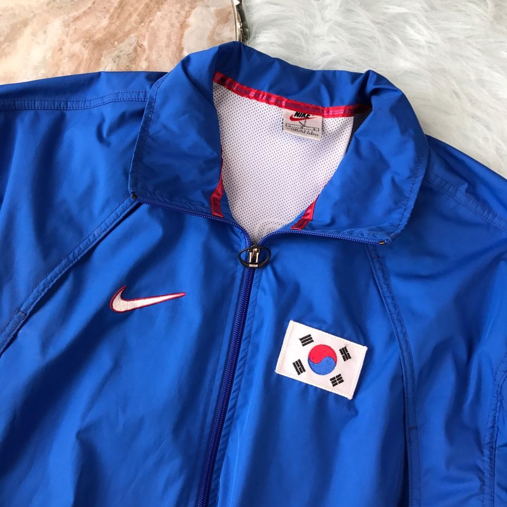 Vtg Nike Korea Jacket Mens Large Silver Tag 90s USA Made Taekwondo Training Blue   Taekwondo ...