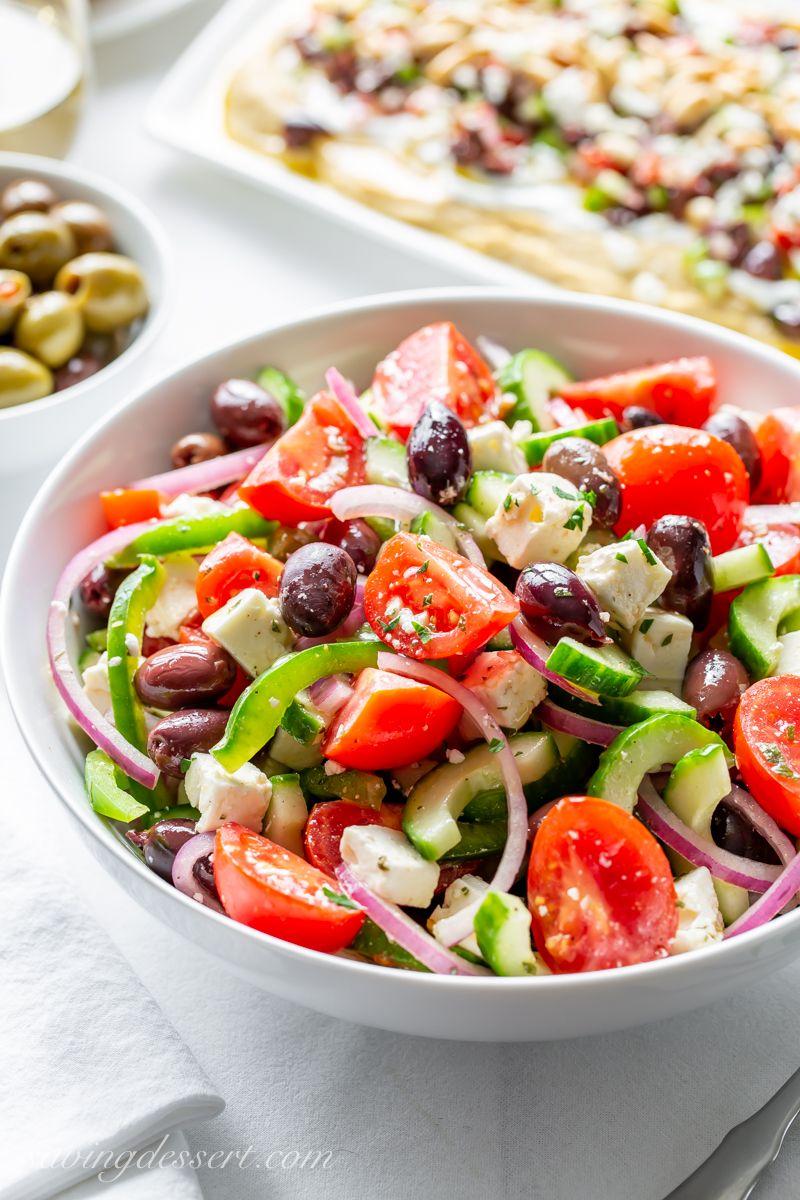 Easy Greek Salad Recipe Recipe Easy Greek Salad Recipe Salad Recipes Greek Salad Recipes