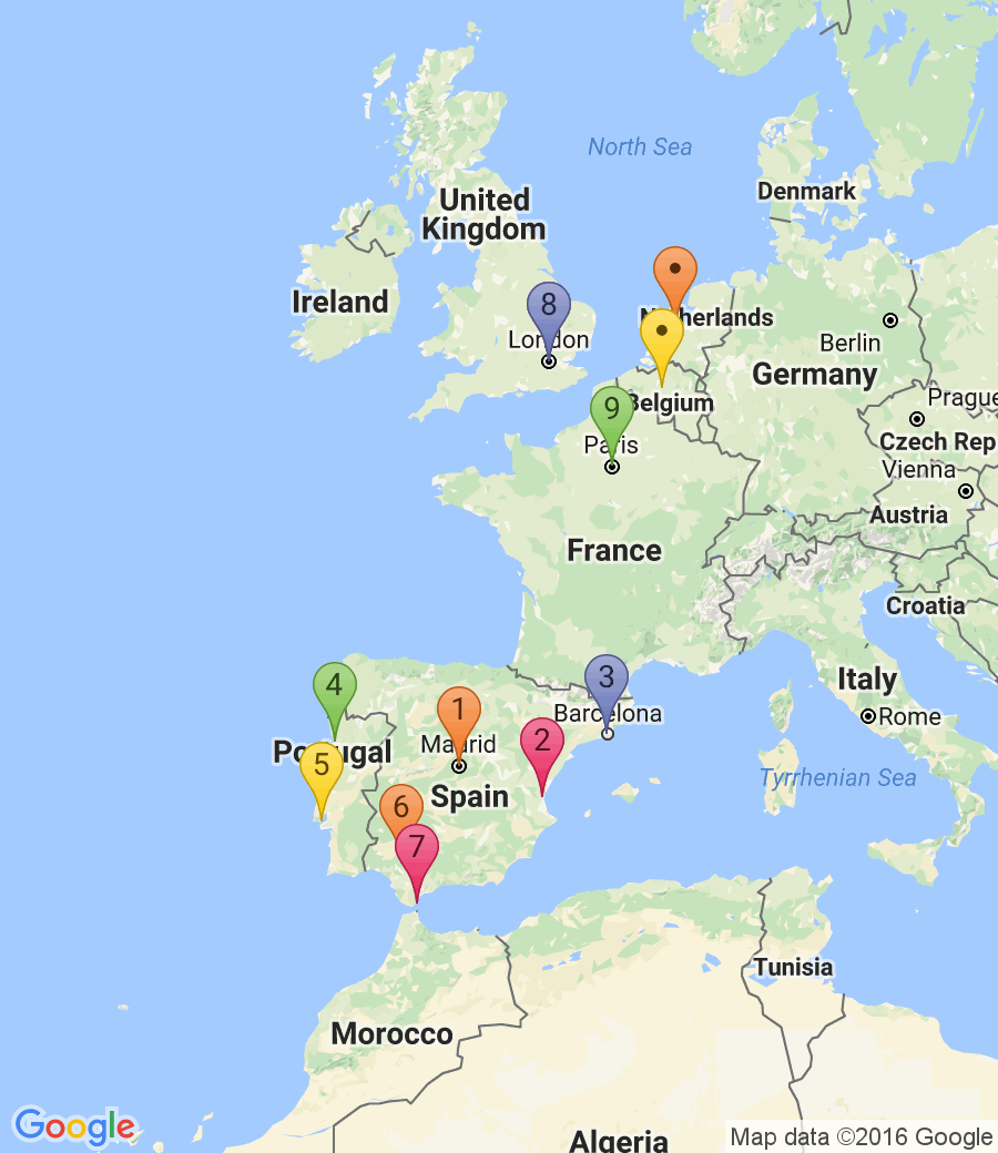#Spain friends trip itinerary: 1. Madrid (2 nights), 2. Valencia (1 night), 3. Barcelona (3 nights), 4. Porto (1 night), 5. Lisbon (2 nights), 6. Seville (2 nights), 7. Gibraltar (0 nights), 8. London (9 nights), 9. Paris (1 night), 10. Brussels (2 nights), 11. Amsterdam (4 nights), 12. London (1 night) Get some great trip ideas and start planning your perfect trip with RoutePerfect - an online trip planning tool that helps you create a custom trip itinerary based on your travel…