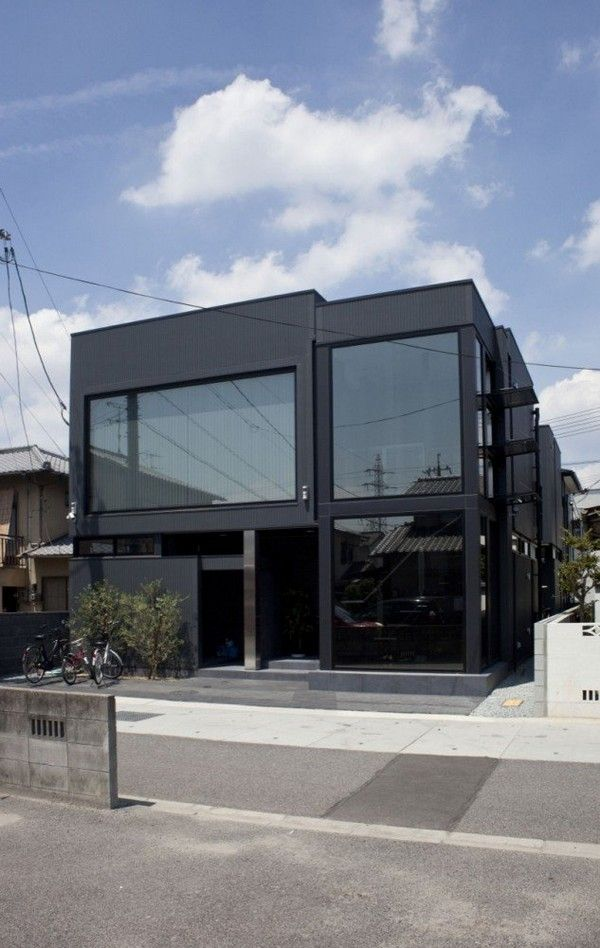 Modern architecture black residence freshome071 modern japanese architecture at its best