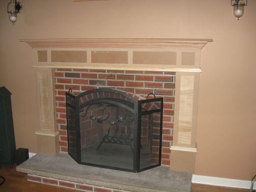 Brilliant Building A Fireplace Mantle Over Brick Steps Bridges Doors Home Remodeling Inspirations Basidirectenergyitoicom