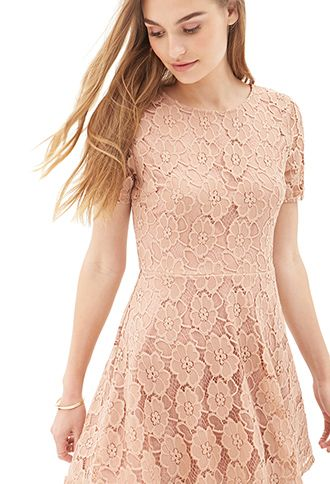 Fl Lace A Line Dress Forever21 23 80