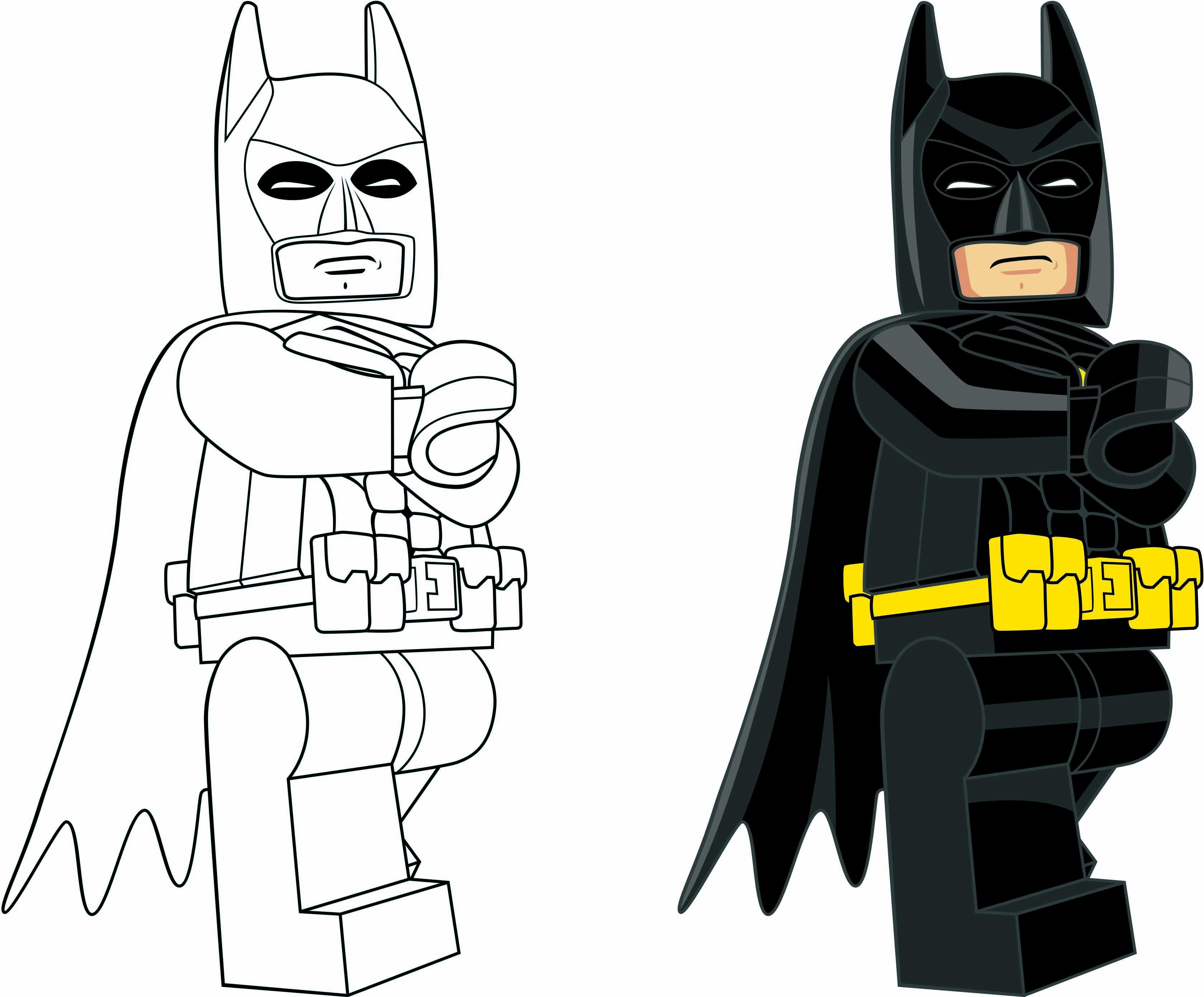 Kleurplaten Lego Heroes.Awesome Kleurplaat Lego Batman 2 Kleurplaten