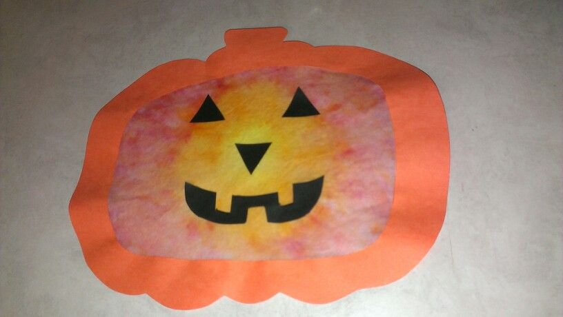 Coffee Filter Jack O Lantern Preschool Halloween Craft