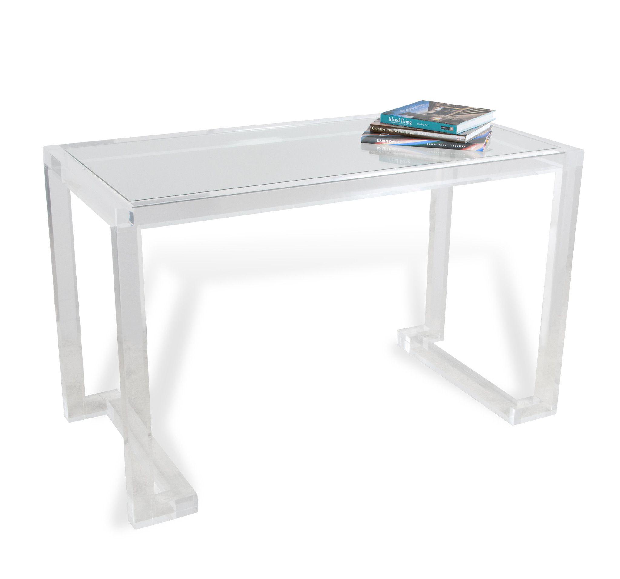 Burke Decor Furniture Acrylic Furniture Desk Design