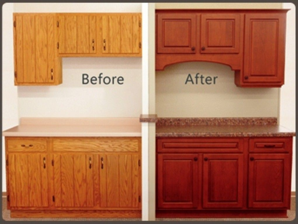 Cabinet Refacing Before And After Refacing Kitchen Cabinets New Kitchen Cabinet Doors Old Kitchen Cabinets