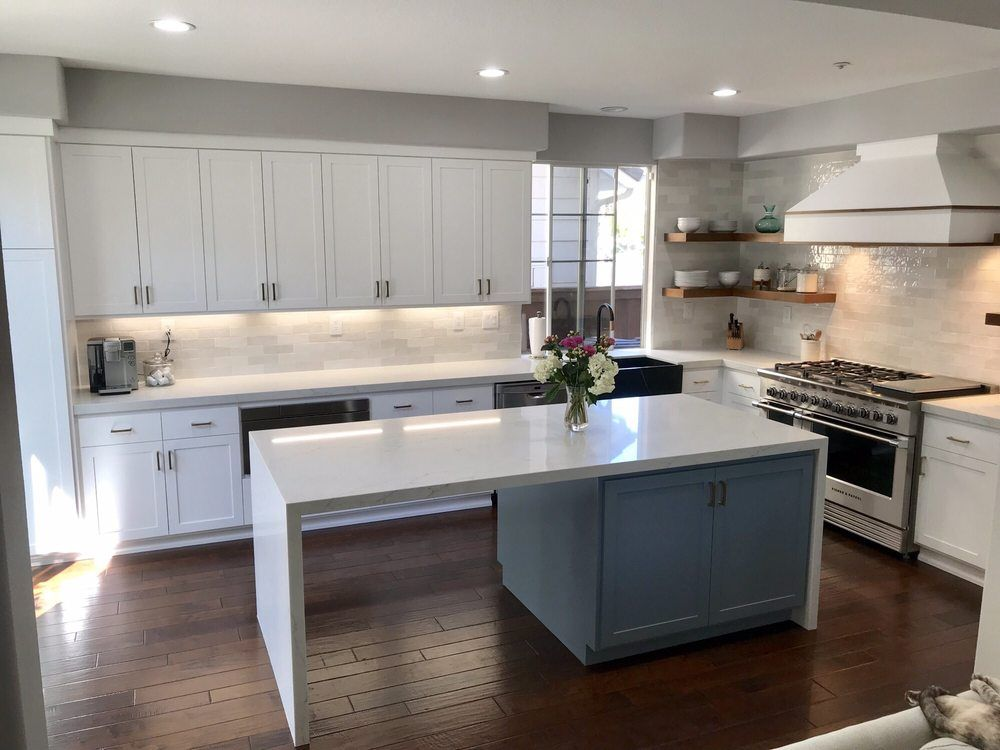 New Kitchen Antolini Bianco Quartz Countertops Themarbleyard Dale Prophet Solutions Remodel Contractors New Kitchen Kitchen Countertops