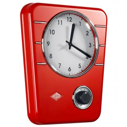 red retro kitchen clock electric wesco classic line kitchen clock red clocks clock