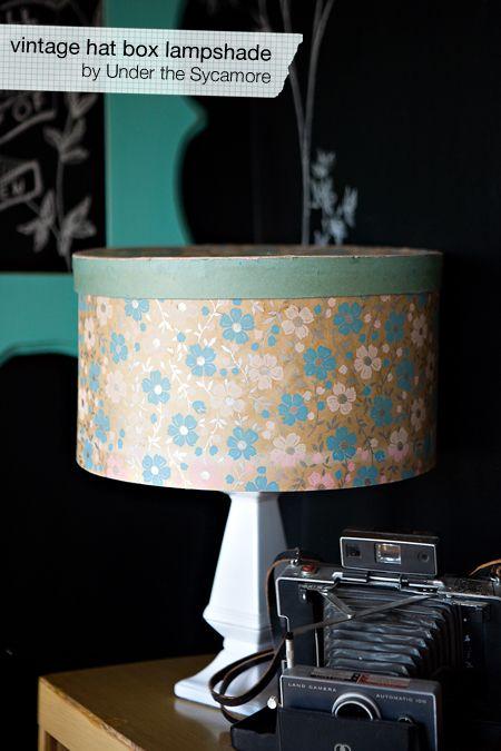 Diy Vintage Hat Box Lampshade Vintage Hat Boxes Hat Box Diy Vintage