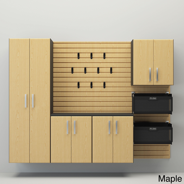 Flow Wall 6-piece Deluxe Cabinet Set (Maple), Brown | Flow, Walls ...