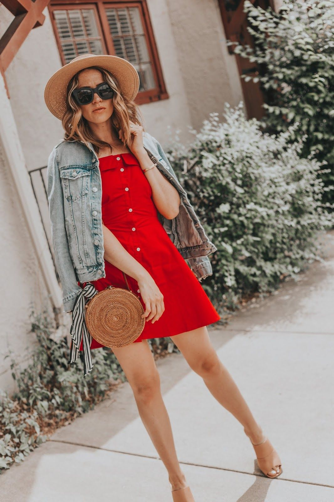 The Perfect Red Summer Dress For 4th Of July Leah Behr Red Summer Dress Outfit Red Summer Dresses Summer Dress Outfits [ 1600 x 1066 Pixel ]