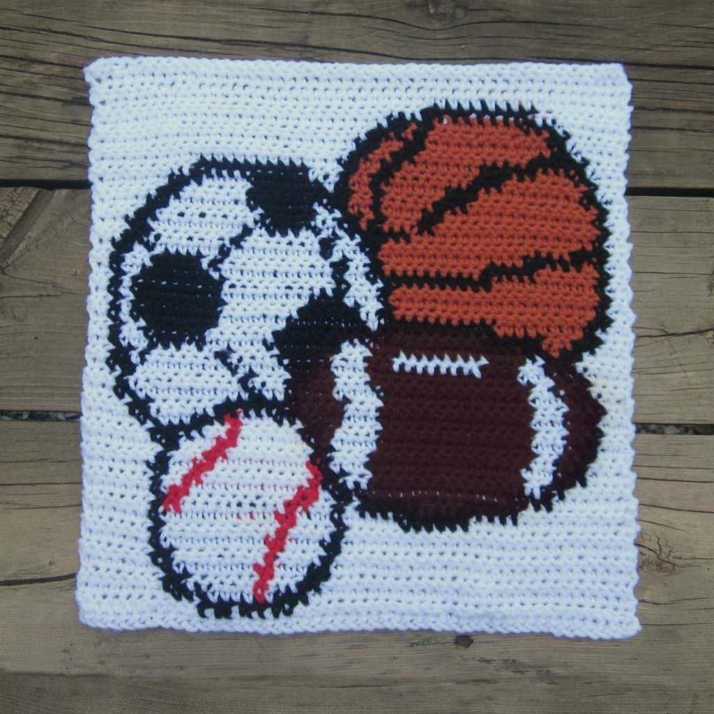 2nd pattern in the Big boy blanket Sports Square | Crochet - squares ...