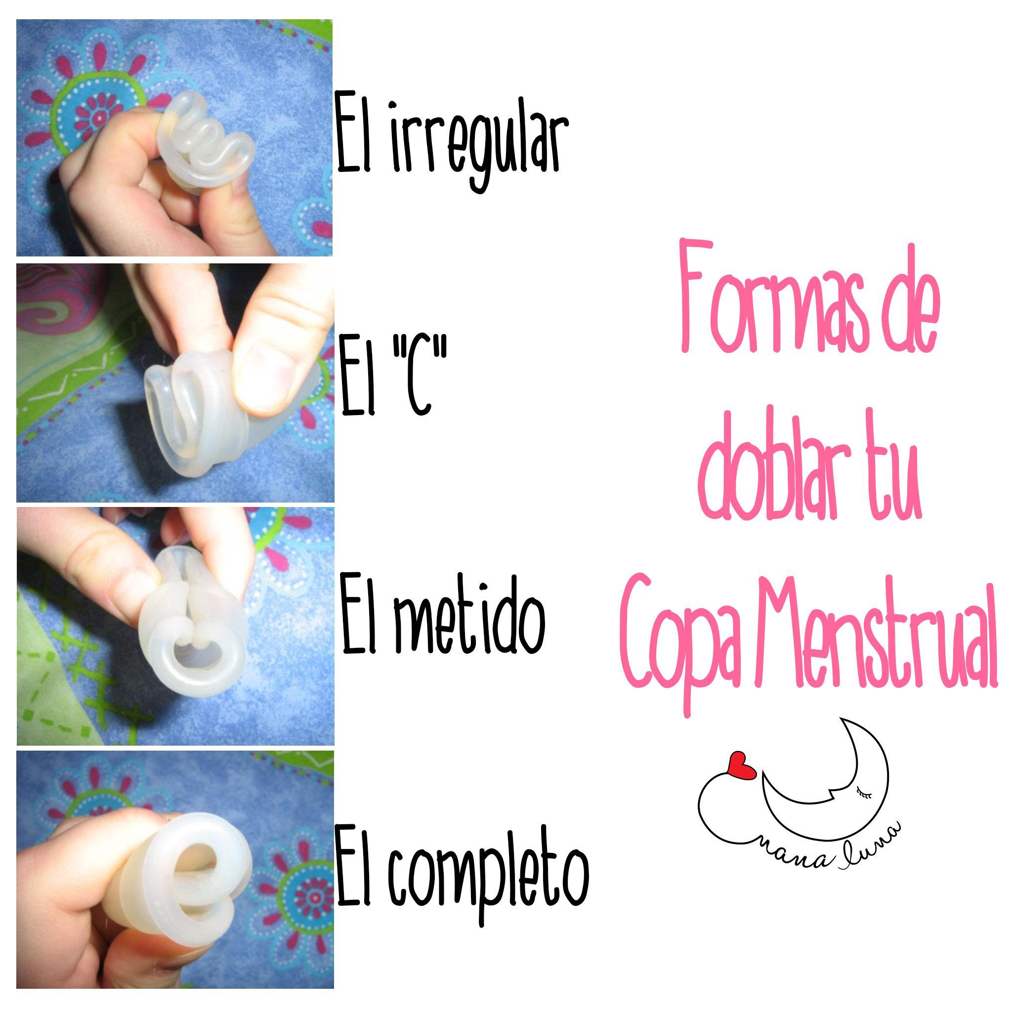 como doblar la copita menstrual