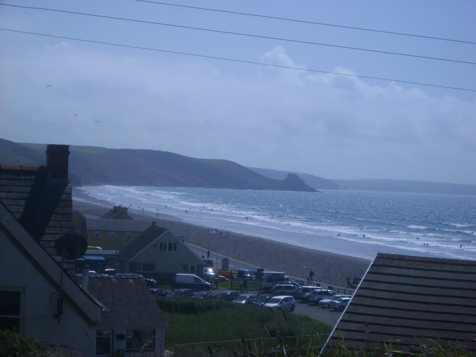 New Gayle Beach from Brawdy hill   New Gayle Wales UK