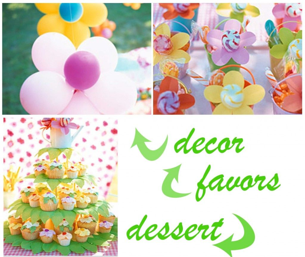 Flower Theme Cup Cakes Babygirl Shower Theme Garden Flowers And