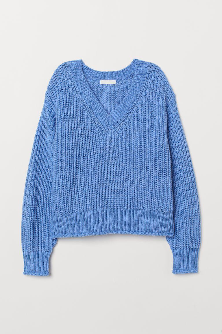 Gebreide trui in 2019   H&M   Sweaters, Blue sweaters