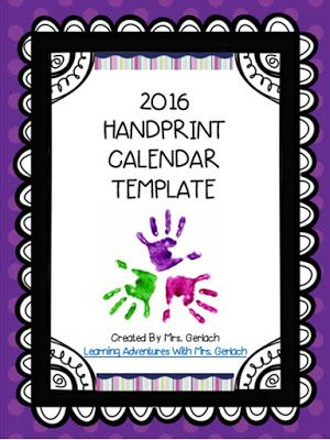Today is the DAY ) 2016 Handprint Calendar Template is Ready