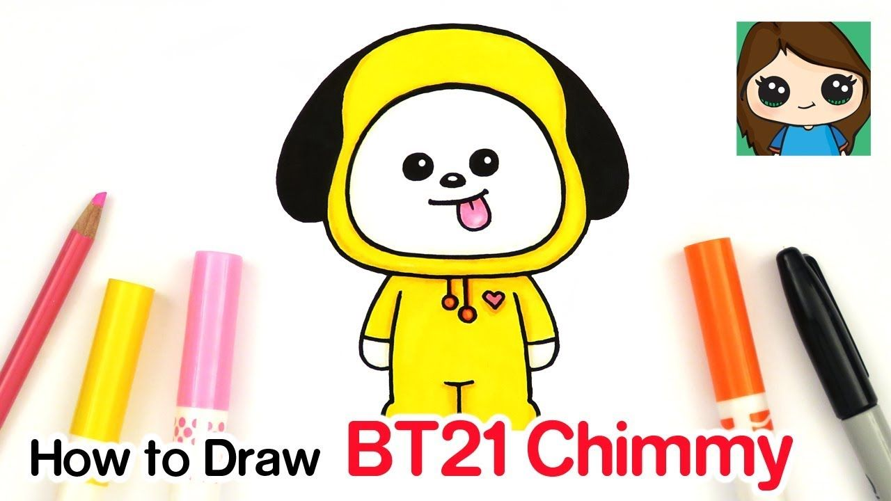How To Draw Bt21 Chimmy Bts Jimin Persona Drawings Drawing