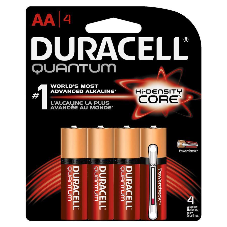 Duracell Quantum Alkaline Aa Batteries 4 Pack Lowes Com In 2021 Duracell Batteries Duracell Alkaline Battery
