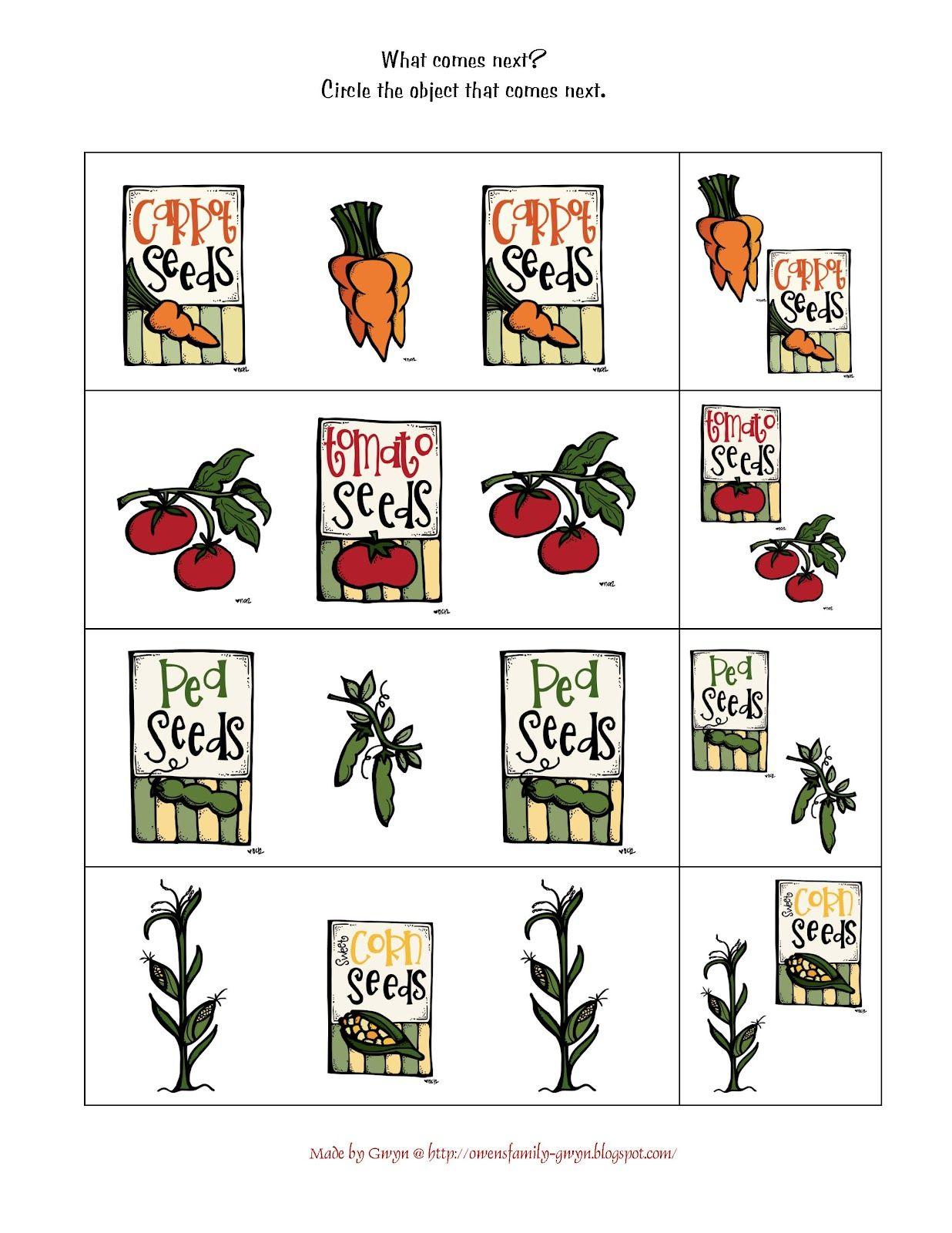 Free Preschool Printables Garden Theme For Preschool