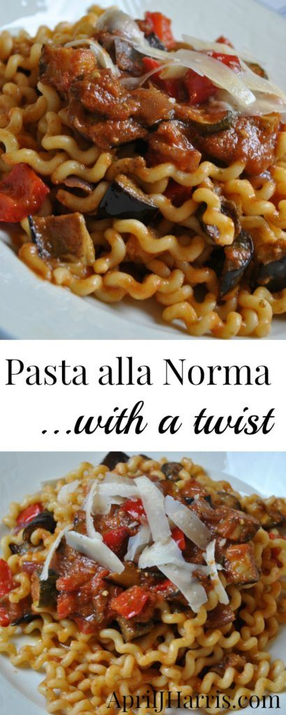 Pasta alla Norma with a Twist - an easy vegetarian meal perfect for mid-week entertaining