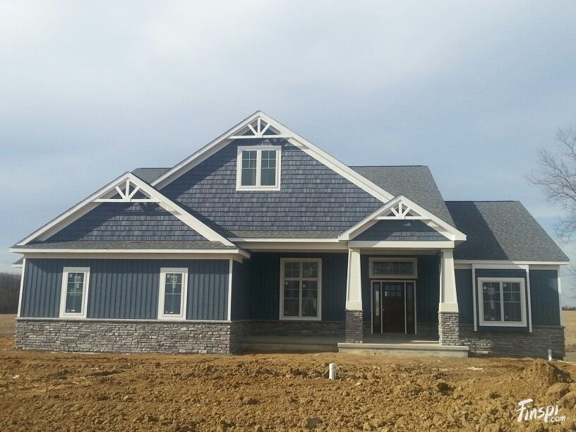 House color and siding style certainteed pacific blue for Vertical house siding