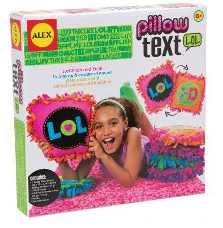 cadeau fille à partir de 8 ans kit couture coussin texte