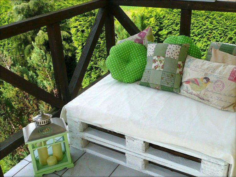 balkon couch selber bauen paletten weiß lackieren #garden