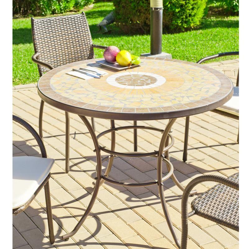 salon de jardin 4 places mosa que tout en bronze damasco maison facile. Black Bedroom Furniture Sets. Home Design Ideas