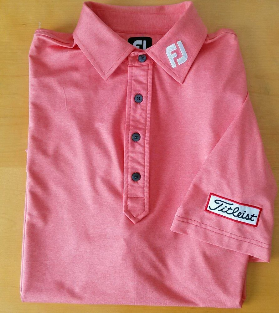 TITLEIST FOOTJOY POLO GOLF SHIRT MENS XL CORAL  FootJoy  PoloRugby bf1e243be2d1c