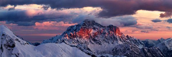 Monte Civetta in the Dolomites, by Jon Baker