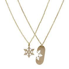 Matching Snowflake Necklaces, $78